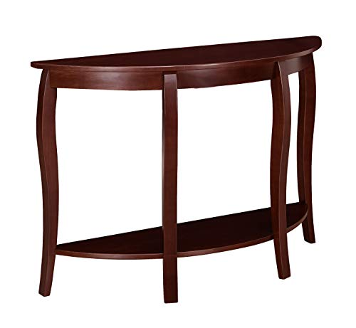 (Ravenna Home Anne Marie Half-Moon Curved Leg Storage Console Entryway Table, 48