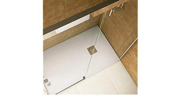 Plato de ducha resina convencional STANO de 90 cm de ancho CEMENTO: Amazon.es: Bricolaje y herramientas