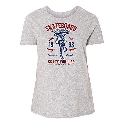 inktastic Skateboard for Women's Plus Size T-Shirt 5 (30/32) Steel Grey 2e195