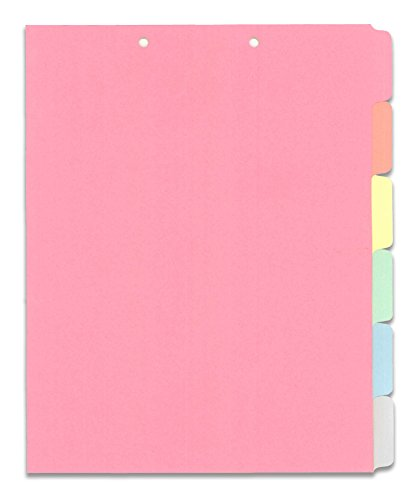 (TWI-6TAB) Stock Chart Divider Sets, Medical, Multi Color Blank Side Tabs, 1/6th Cut (50 Sets of 6 Tabs)