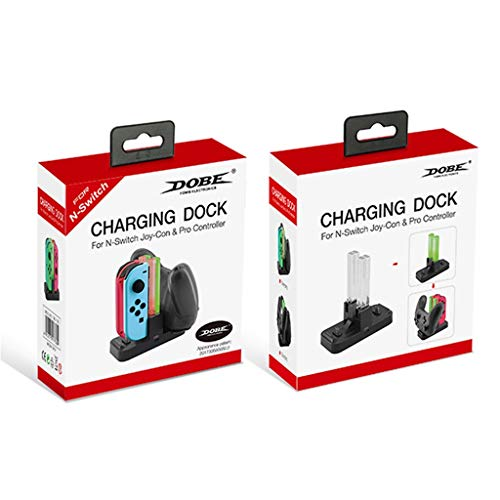 Charging Dock for Nintendo NS Switch Joy-Cons and Controller Pro, Charging Station with LED Indication Black (Gta 4 Mods Xbox 360 Usb Cars)