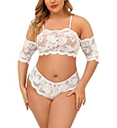 RSLOVE Plus Size Lingerie Set for Women Sexy Bra and Panty Lace Underwear