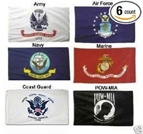 - ALBATROS 3 ft x 5 ft Embroidered Military Armed Forces Branch Powmia Nylon Flag for Home and Parades, Official Party, All Weather Indoors Outdoors