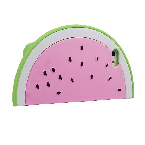 Thunderous 3D Cute Fruit Soft Silicone Watermelon Protective Case for Apple iPhone 6 4.7 inch Pink