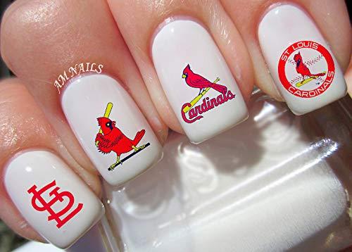 St Louis Cardinals Water Nail Art Transfers Stickers Decals - Set of 50 (Cardinals Louis Natural)