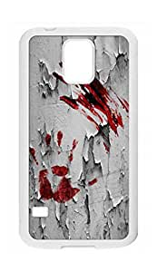 Samsung Galaxy S5Case–Bloody Zombie Hand Print Hard Plastic Back Protection Phone Case Cover de 939