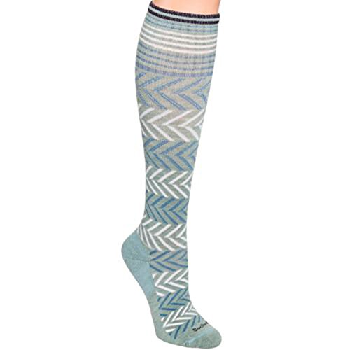 Sockwell Womens Chevron Travel Compression Socks (Celadon, M/L) - Edge Soccer Socks