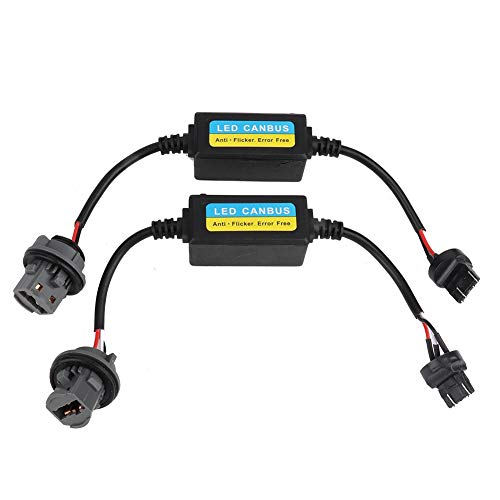 LED Decoder, 2pcs T10 LED Canbus Headlight Decoder Device Anti-Flicker Resistors Error Canceller