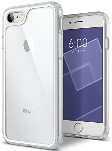 White Back Case - Caseology Coastline Series iPhone 8/7 Cover Case with Clear Slim Protective for Apple iPhone 8 (2017) / iPhone 7 (2016) - White Gray