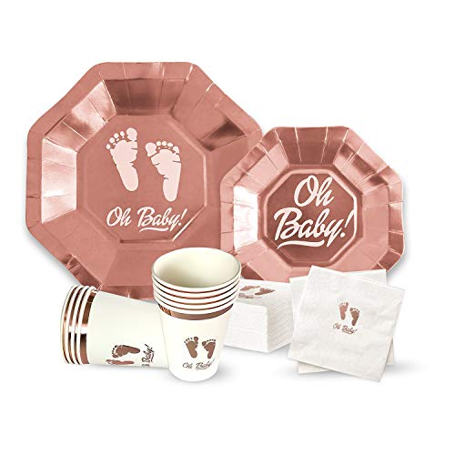 OH Baby Shower Party Supplies for Girl or Boy 64 Piece Set - 9