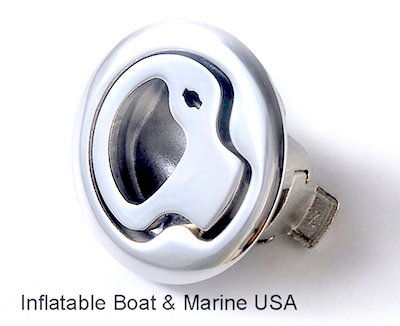 Boat Latch - Slam Type - Lift Pull Ring Handle - Locking – Marine 316 Stainless (Locking Lift Ring)