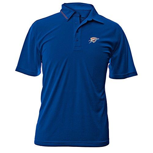 NBA Oklahoma City Thunder Adult Men Surface Wordmark Polo Shirt,X-Large,Royal Blue