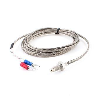 Medición Sensor eDealMax 6 mm Rosca termopar tipo K Temperatura, 2 m