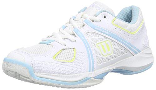 Wilson NVISION WOMAN - Zapatillas De Tenis de material sintético mujer Blanco / Azul