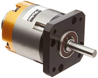 """Parker PV17FE-050 In-Line Planetary Gearhead, Square Flange Face, NEMA, 50:1 Ratio, 60in-lbs Nominal Torque, 115in-lbs Acceleration Torque, 0.25"""" Shaft Diameter, 0.984"""" Shaft Length, 0.866"""" Pilot Diameter, 1.724"""" Bolt Circle, 2.48"""" Housing Length"""