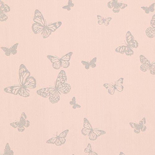 Blush Wallpaper - Brewster 2686-20282 Pearl Blush Butterfly Wallpaper