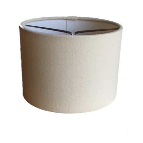 Upgradelights Beige Linen 5.5 Inch Barrel with Nickel Bulb Clip Chandelier Lampshade (Linen Barrel Shade)