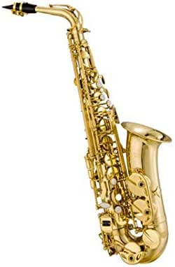 Jielongtongxun Saxophone, Alto E-tone, suitable for beginners to practice playing instruments, carved flowers are vivid (Color : Yellow)