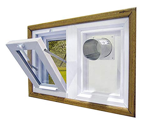 Dryer Vent and Hopper Window - 30''w x 16''h Right Side Vent by Weather-Master