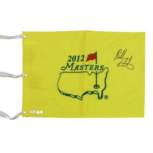 Bubba Watson Autographed 2012 Masters Golf Pin Flag - JSA