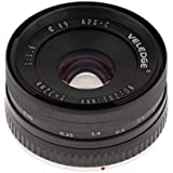 MagiDeal 32mm F1.6 Large Aperture Lens APS-C For Sony E-Mount Cameras NEX 3 6 7 A6500 - Black