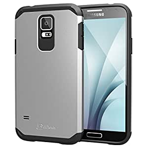 JETech Funda Compatible Samsung Galaxy S5, Carcasa Protectora, Plata