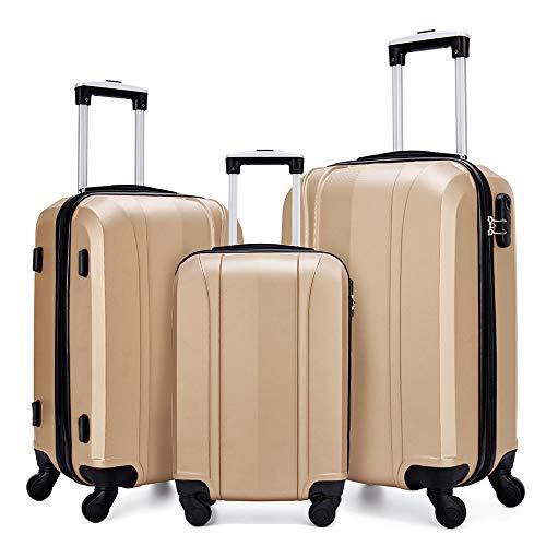 Fochier Luggage Set 3 Piece Hardshell Lightweight Spinner ()