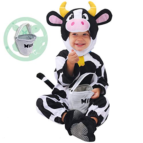 Spooktacular Creations Baby Cow Costume Lovely Deluxe Set for Kids Halloween Trick or Treat Farm Party Dress Up