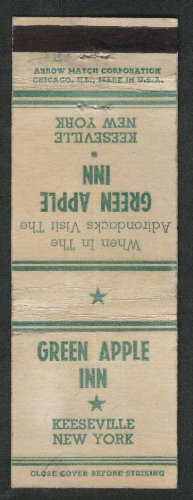 Adirondack Apples - Green Apple Inn Adirondacks Keeseville NY matchcover