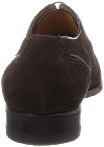 A.testoni Hombres Glossy Oxford Trim Dark Brown Suede Deluxe