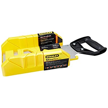 Stanley 19-800 Saw Storage Mitre Box with 12-Inch Backsaw