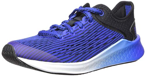 New Balance Kids' Fast V1 Fresh Foam Running Shoe, Black/uv Blue, 5 M US Big Kid