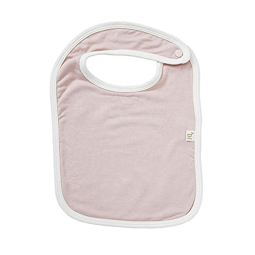 Boody Body Baby EcoWear Bib - Soft, Washable Fabric Protection made from Natural Organic Bamboo - Absorbent and Neutral for Sensitive Skin - Rose Pink