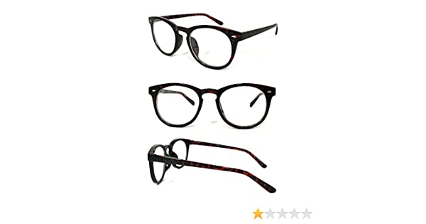 653eb40622 Amazon.com  VeryHobby® Round Clubmaster Clear Lens Blended Bifocal Reading  Glasses (+1.50