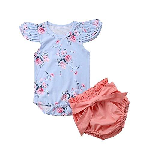 Wang-RX Princesa Infantil bebé niña Florla Conjunto de Ropa ...