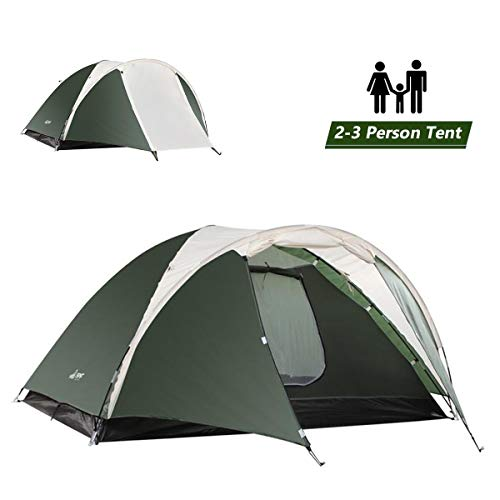 SEMOO 2-3 Person Dome Family Camping Tent, Waterproof and Convenient to Fold, Lightweight with Carry Bag for Outdoor…