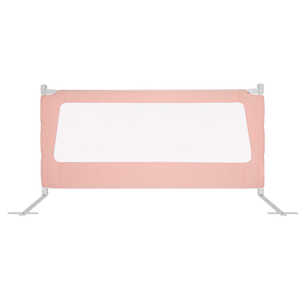 CSQ アンチフォールスフェンス、幼児ベッドルーム大きなベッドの安全バッフルベッドサイドベッドのレール、1.5~2Mを歩くことを学ぶベッドのクロールに移動する 子供の遊び場 (Color : Pink, Size : 180*84CM) 180*84CM Pink B07TW769DZ