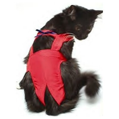 Joybies Red XSmall Piddle Pants ( for cat 11-13 inches   27.94 cm 33.02 cm Along Spine Collar to Tail Base )