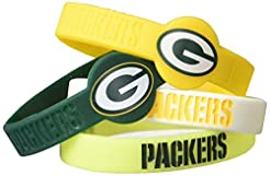 aminco NFL Silicone Bracelets, 4-Pack