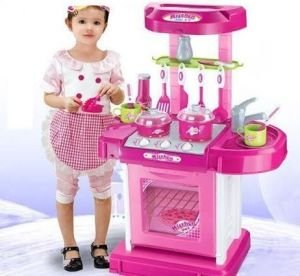 Buy Kids Kitchen Set Toy With Light And Sound Online At Low Prices In India Amazon In