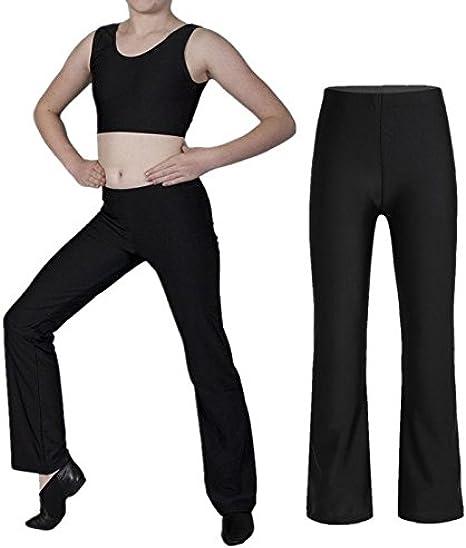 IEFIEL Pantalones de Danza Latin Profesional Pantalones El/ásticos Deportivos Ni/ñas Transpirables Leggings de Ballet Danza Moderno Baile leotardo de Gimnasia Para Ni/ña Chica 4-14 A/ños