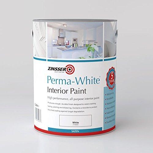 Zinsser ZINPWIS25L 2.5 Litre Perma-White Interior Satin Paint by Zinsser
