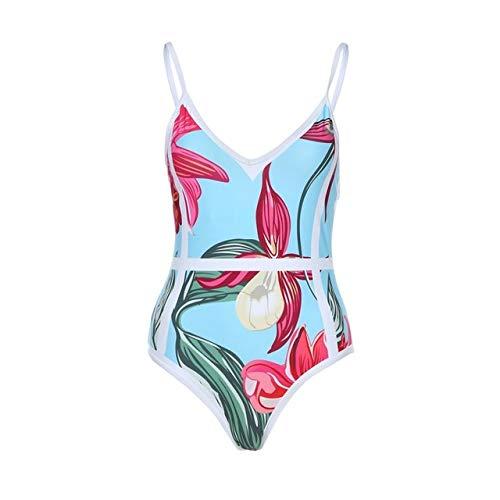 Floral Printed Swimsuit Swimwear Bikini Plus Size One Piece Beachwear Bodysuit