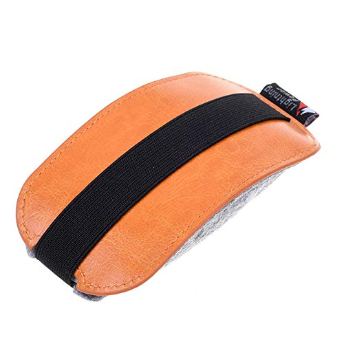 Orange PU Leather Mouse Pouch Case Mice Case Storage Bag for