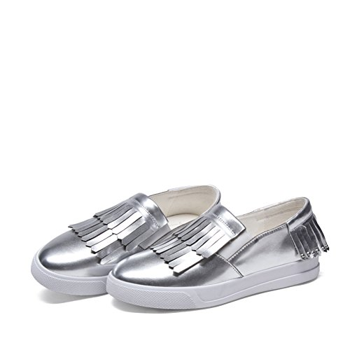 Zapatos ocasionales de las mujeres/Mocasín/Plano redondo dedo del pie/Fija los pies zapatos C