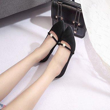 Talones de las mujeres Primavera Verano Otoño Zapatos de cuero del club Oficina al aire libre y carrera vestido de tacón de aguja del Bowknot Rosa Verde Negro Caminar Army Green