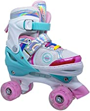 Amrgot Fun Roll Adjustable Roller Skates with Four Piles