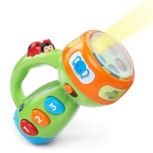 VTech Spin & Learn Color Flashlight Amazon Exclusive, Lime Green]()