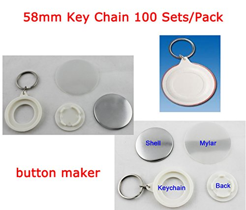 DIY supply 58mm Key Chain 100 Sets/Pack BUSINESS GIFT SCHOOL PARTY COMPANY DIY!!