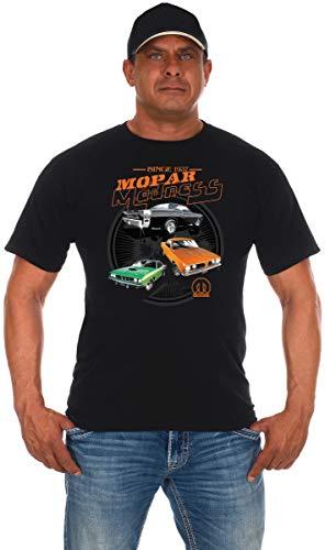 Men's Mopar Maddness T-Shirt Short Sleeve Black Crew Neck Shirt (Medium, Black)